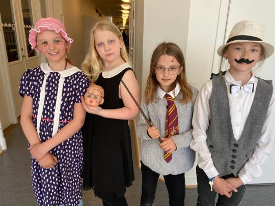 Staff and Students celebrate International Book Day at school.